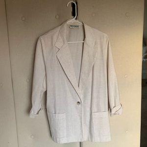 White lightweight oversized blazer